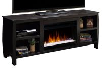 """69"""" Curve Entertainment Console Fireplace at Gardner-White"""