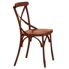 Orange Side Chair Sled Base Vintage X Back At Gardner White