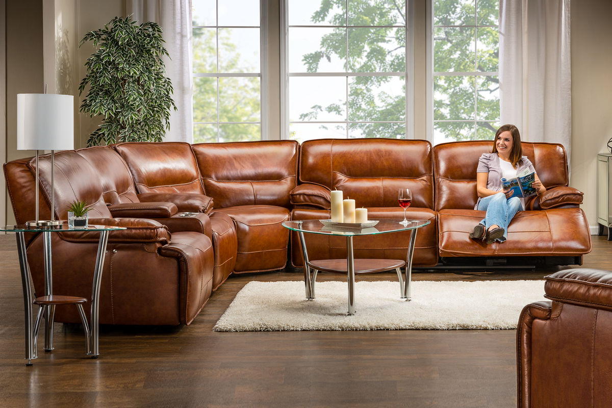 leather sectional sofas with power recliners red sofa table drawers drake reclining at gardner white
