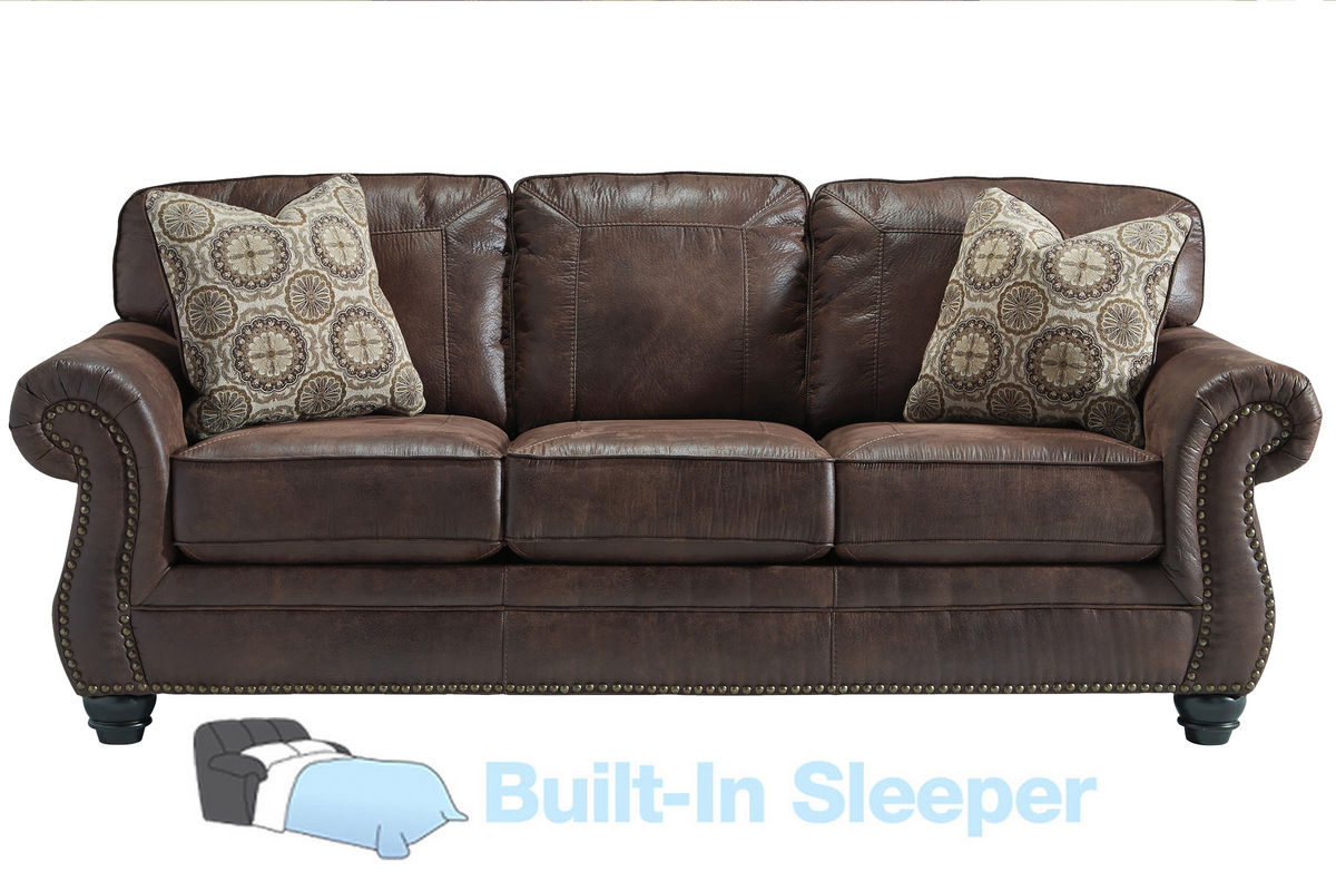 brown sectional sleeper sofa l shaped color combination breville with nailhead at gardner white