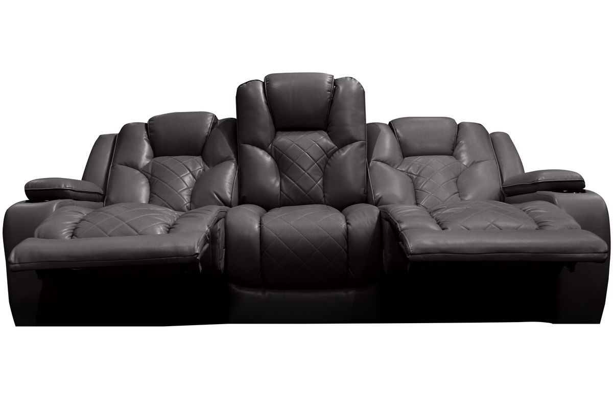 microfiber reclining sofa with drop down table sectional sofas for sale toronto power and headrest