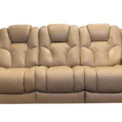 Microfiber Reclining Sofa With Drop Down Table Convertible For Rv Turismo Power At