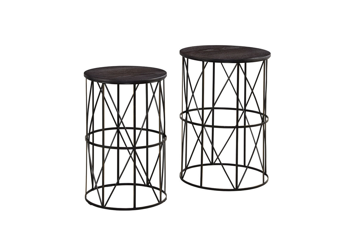 Marxim Nesting End Tables by Ashley Bronze at Gardner-White