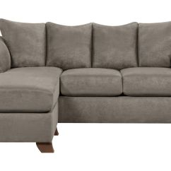 White Microfiber Sectional Sofa Curved Sofas And Sectionals Upton With Floating Ottoman At Gardner