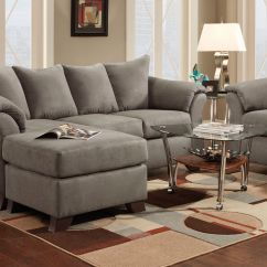 Microfiber Living Room Furniture Bench Seating Upton Sofa With Floating Ottoman At Gardner-white
