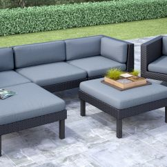 Outdoor Chaise Lounge Chair With Ottoman Argos Baby Bouncer Oakland 6 Piece Sofa And Patio Set
