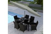 Tilting Patio Umbrella in Sand Grey at Gardner-White