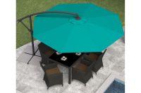 Offset Patio Umbrella in Turquoise Blue at Gardner-White
