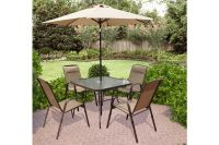 5 Piece Patio Set With Umbrella - Bestsciaticatreatments.com