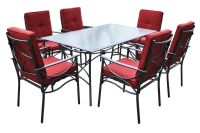 7-Piece Red Patio Dining Set at Gardner-White