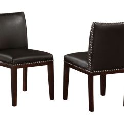 Black Bonded Leather Chair Xmas Covers Ebay Emma At Gardner White