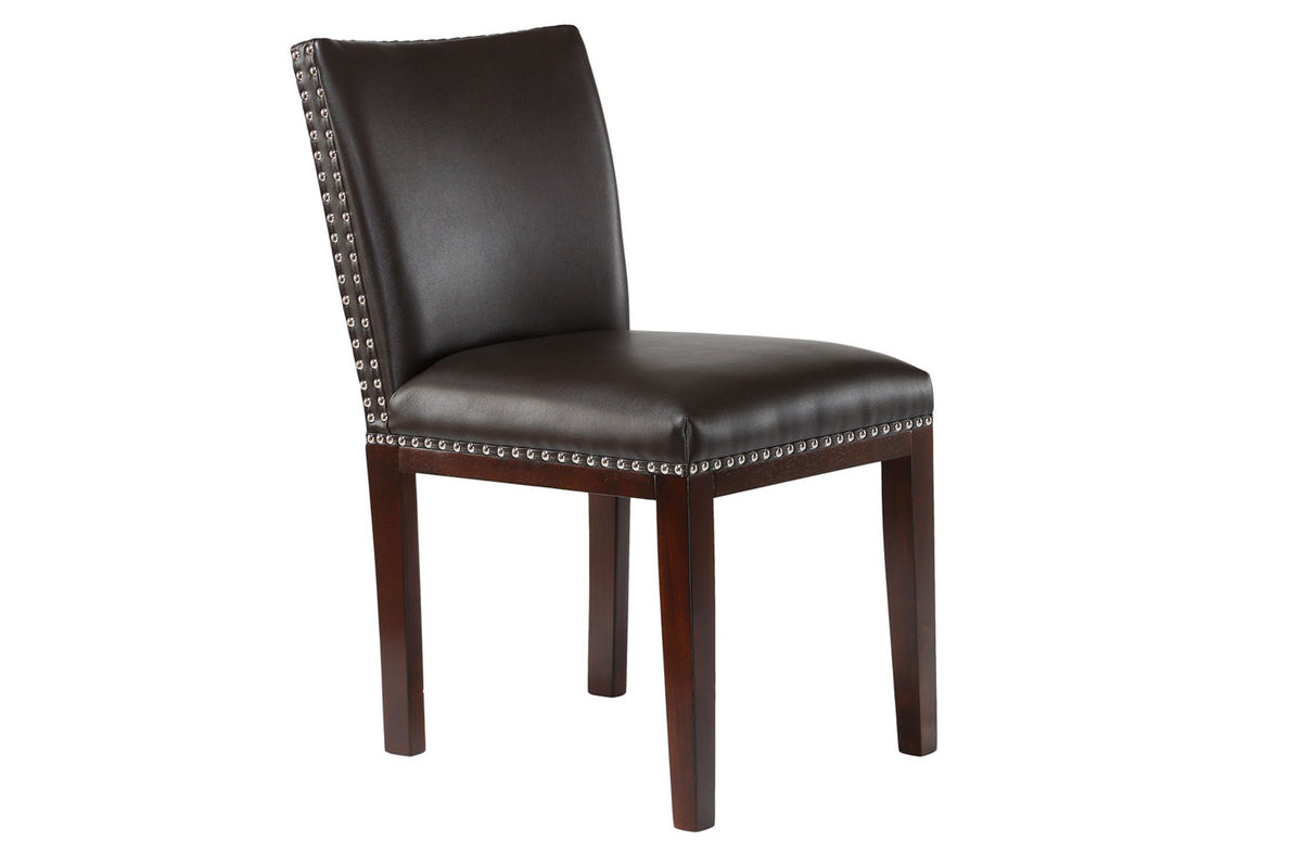 black bonded leather chair baby high cost emma at gardner white