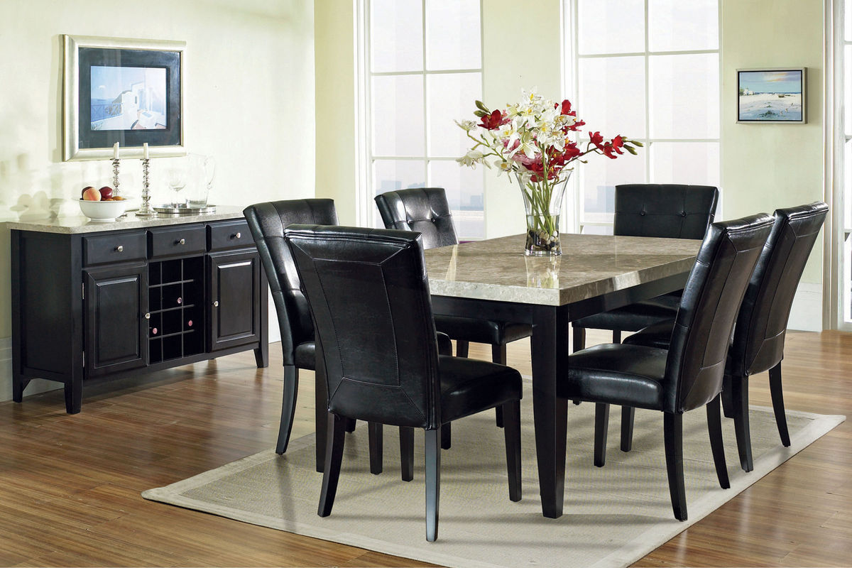 gardner white living room sets small side tables for monarch marble conventional dining table at