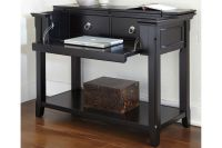 Black Sofa Table with Drop Down Desk at Gardner-White