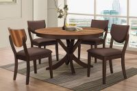 Turner Round Dining Table + 4 Side Chairs