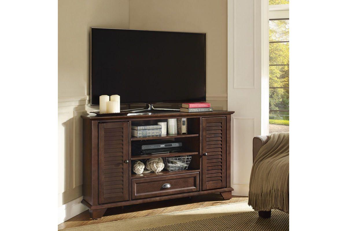 Palmetto 50 Corner TV Stand In Mahogany By Crosley At