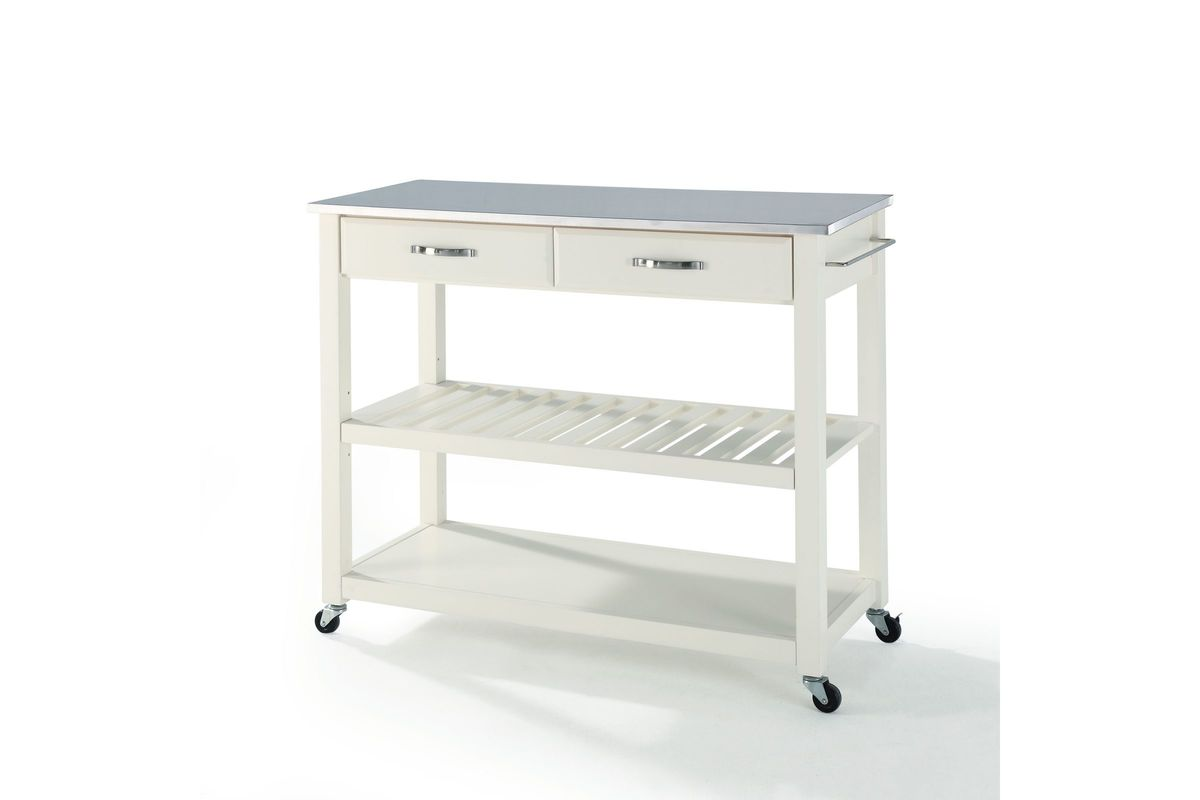 stainless steel stools kitchen rustic hutch top cart island with optional