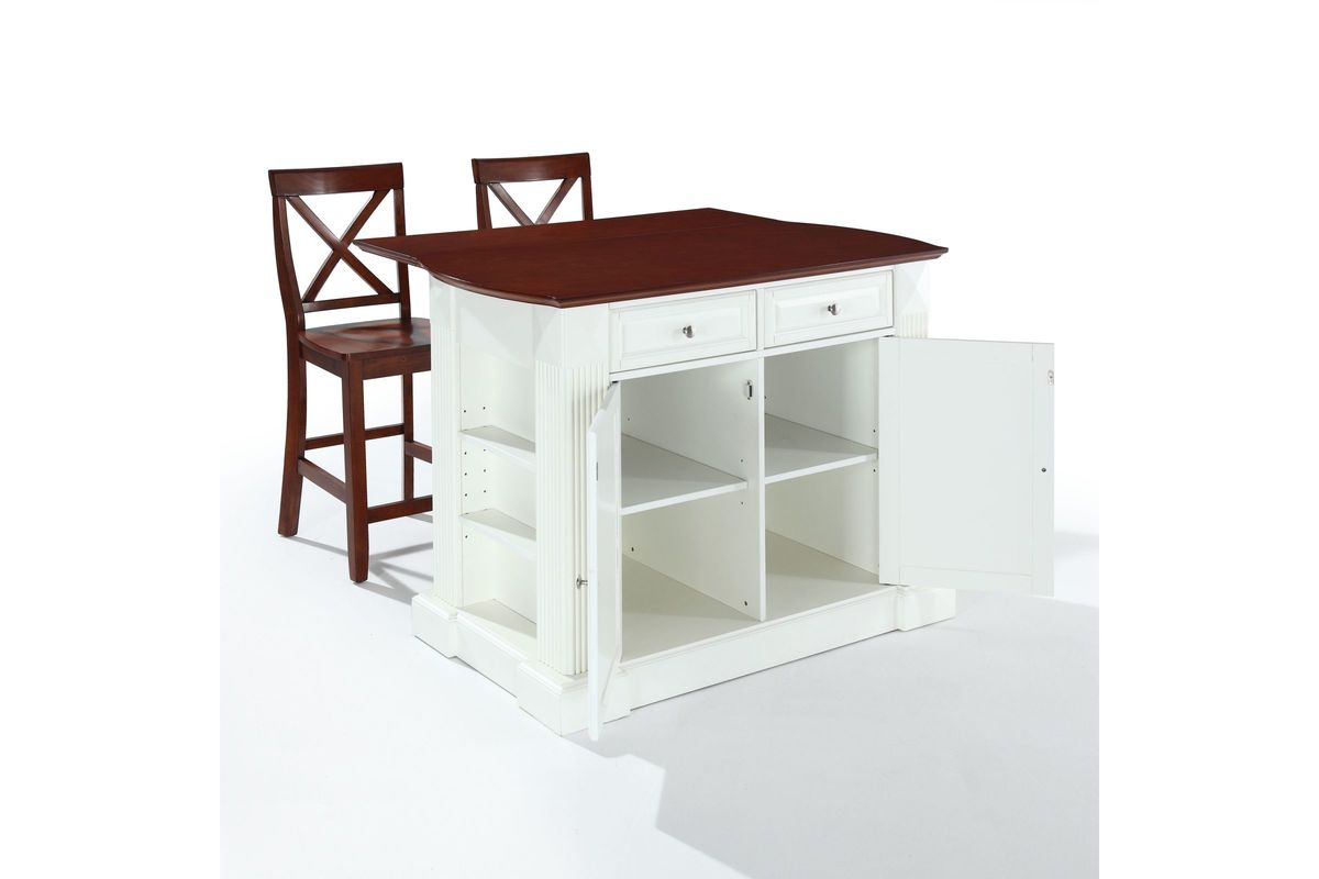 kitchen island with drop leaf clearance pull out cabinets coventry breakfast bar top in