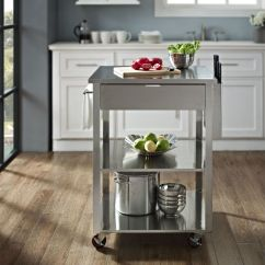 Crosley Kitchen Cart Food Slicer Culinary Prep In Stainless Steel By ...