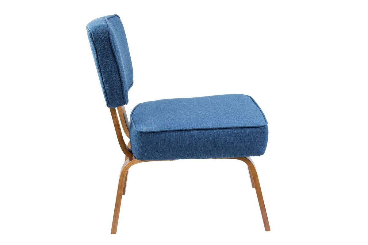navy blue accent chairs lounge chair metal legs nunzio mid century modern in by