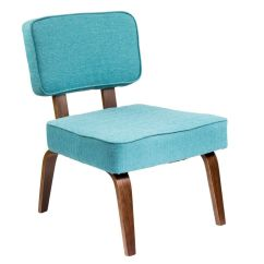 Teal Accent Chair Parsons Chairs Cheap Nunzio Mid Century Modern In By Lumisource
