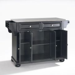 Stainless Steel Kitchen Islands How To Build An Outdoor Counter Alexandria Top Island In Black By