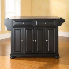 Crosley Alexandria Kitchen Island Resurface Countertops Stainless Steel Top In Black By
