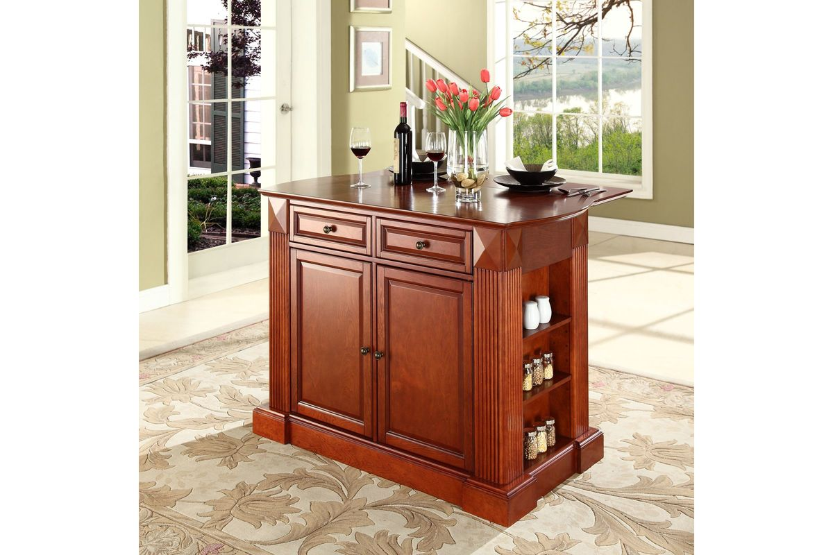 kitchen island with drop leaf clearance staining cabinets coventry breakfast bar top in