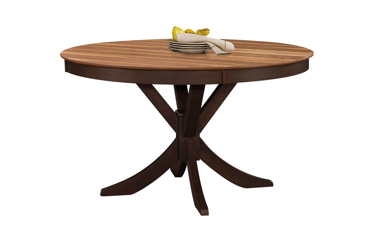 round table with chairs dark brown leather dining turner 43 4 side