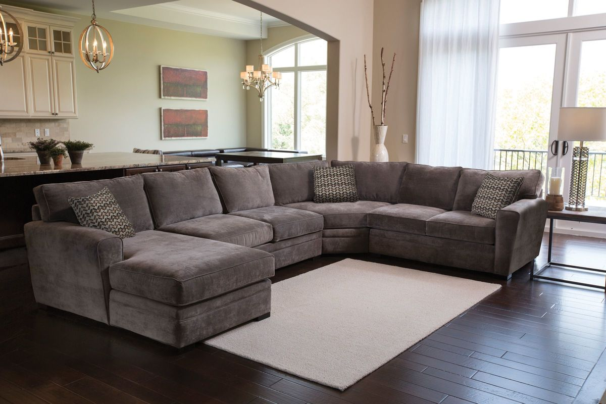 right arm facing sofa left chaise saarinen breeze sectional at gardner white