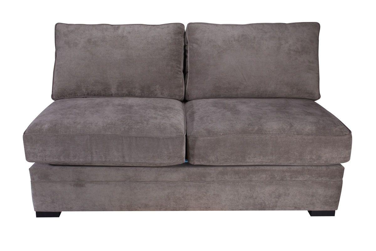 armless white leather sofa dundee v utd sofascore breeze loveseat at gardner