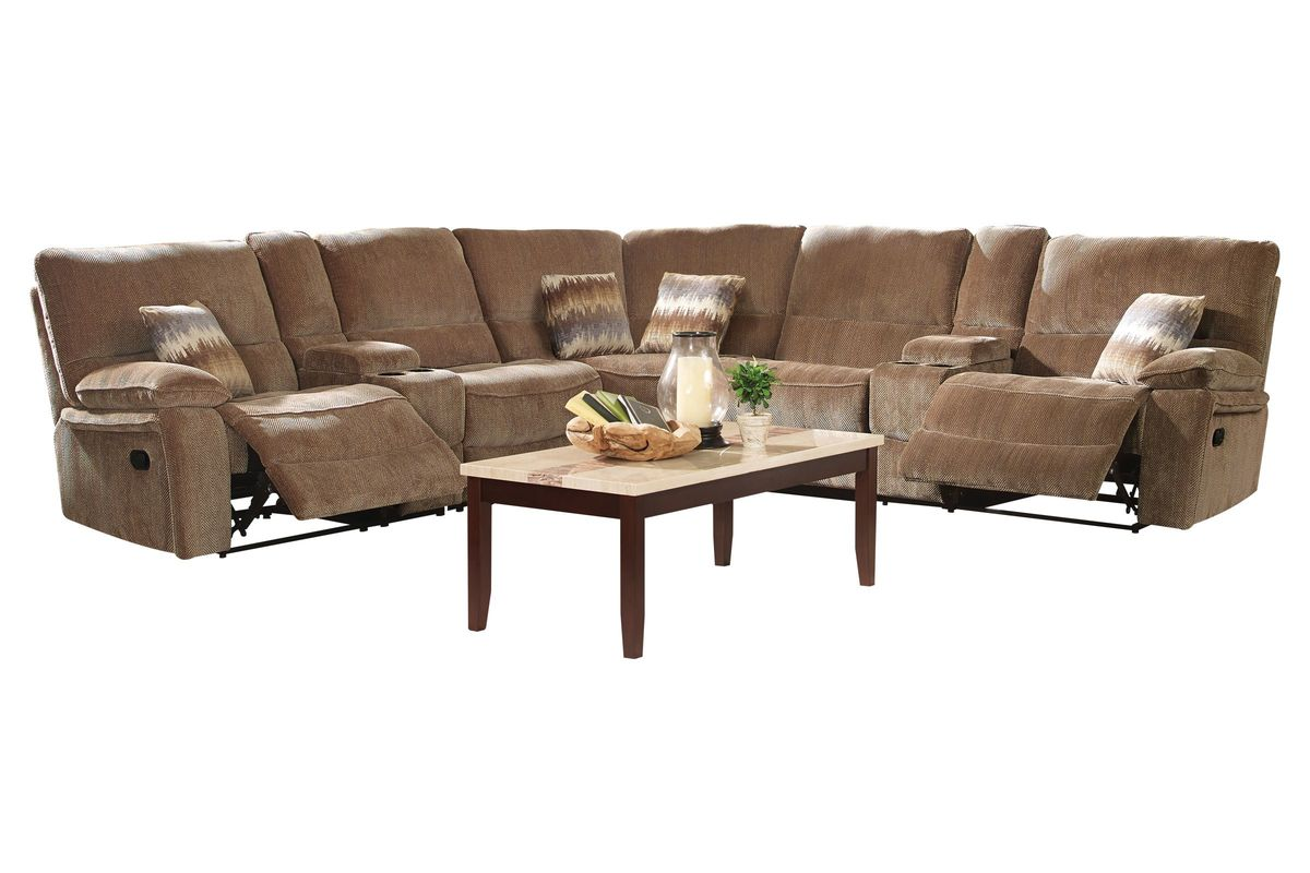 Ranger 7Piece Chenille Power Reclining Sectional at
