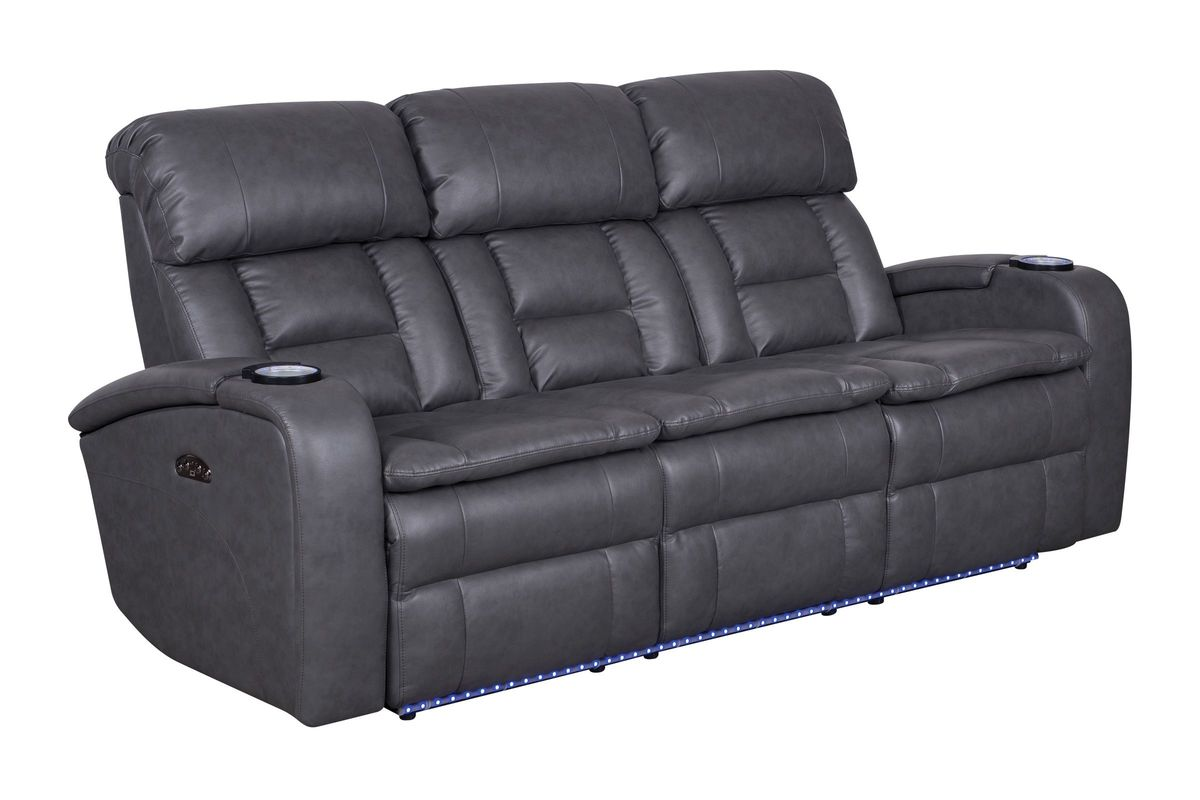 double reclining sofa with fold down table ethan allen hepburn zenith power drop at