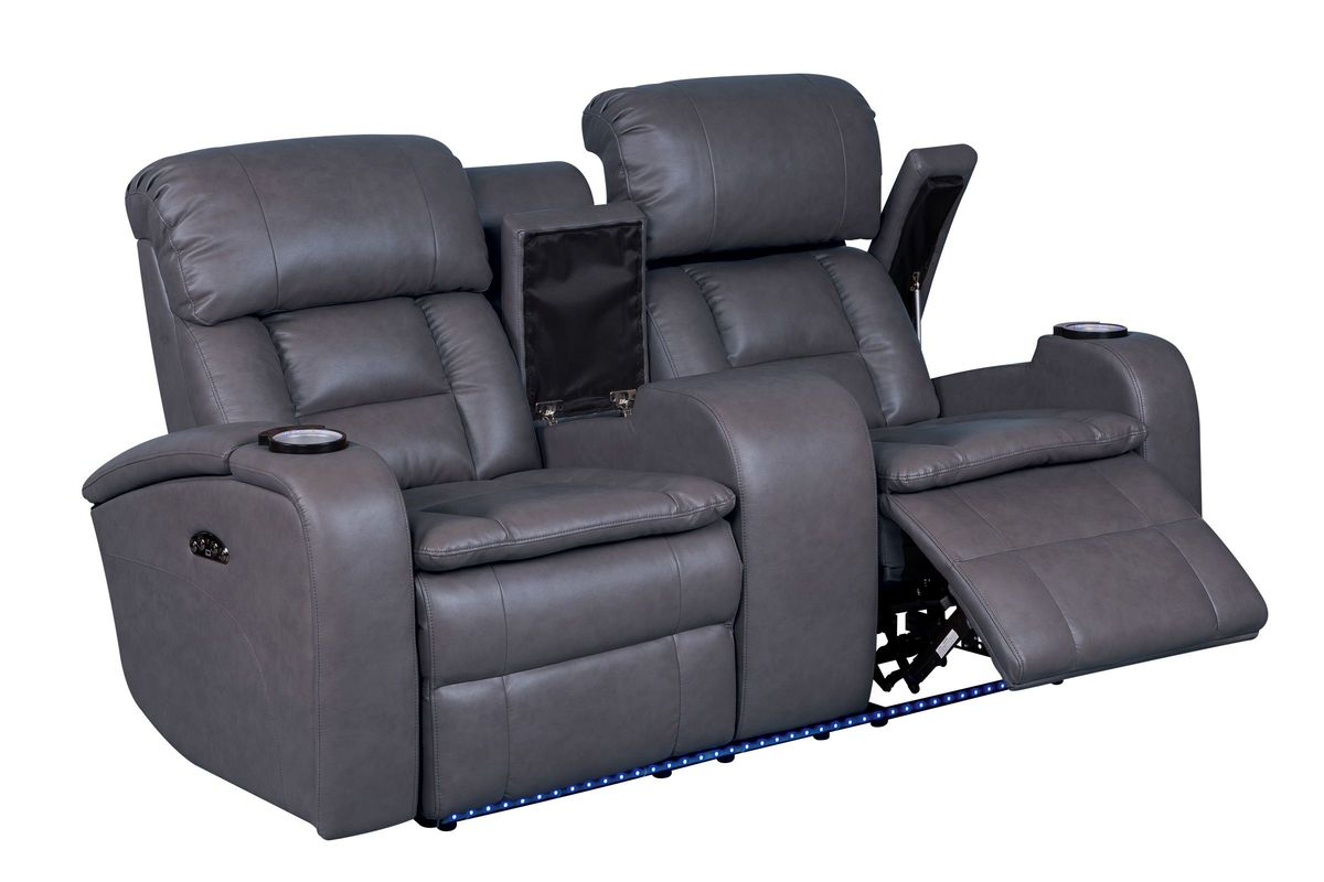 Zenith Power Reclining Loveseat with Console