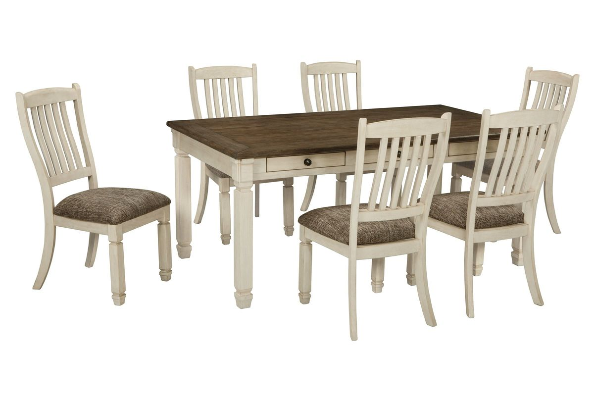 white 6 chair dining table high back patio cushions target bolanburg 43 side chairs at gardner