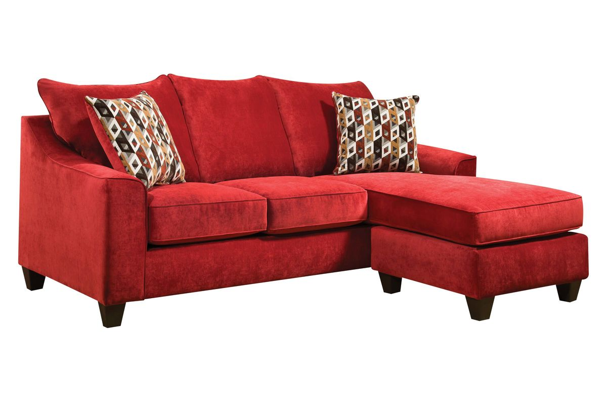 red sectional sofa chaise foam for sofas cushions elizabeth in with moveable at gardner white
