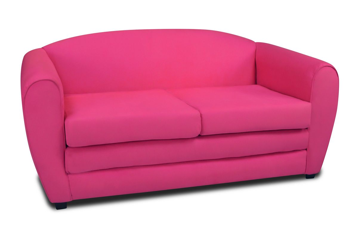kangaroo tween sleeper sofa half leather review in passion pink by trading co