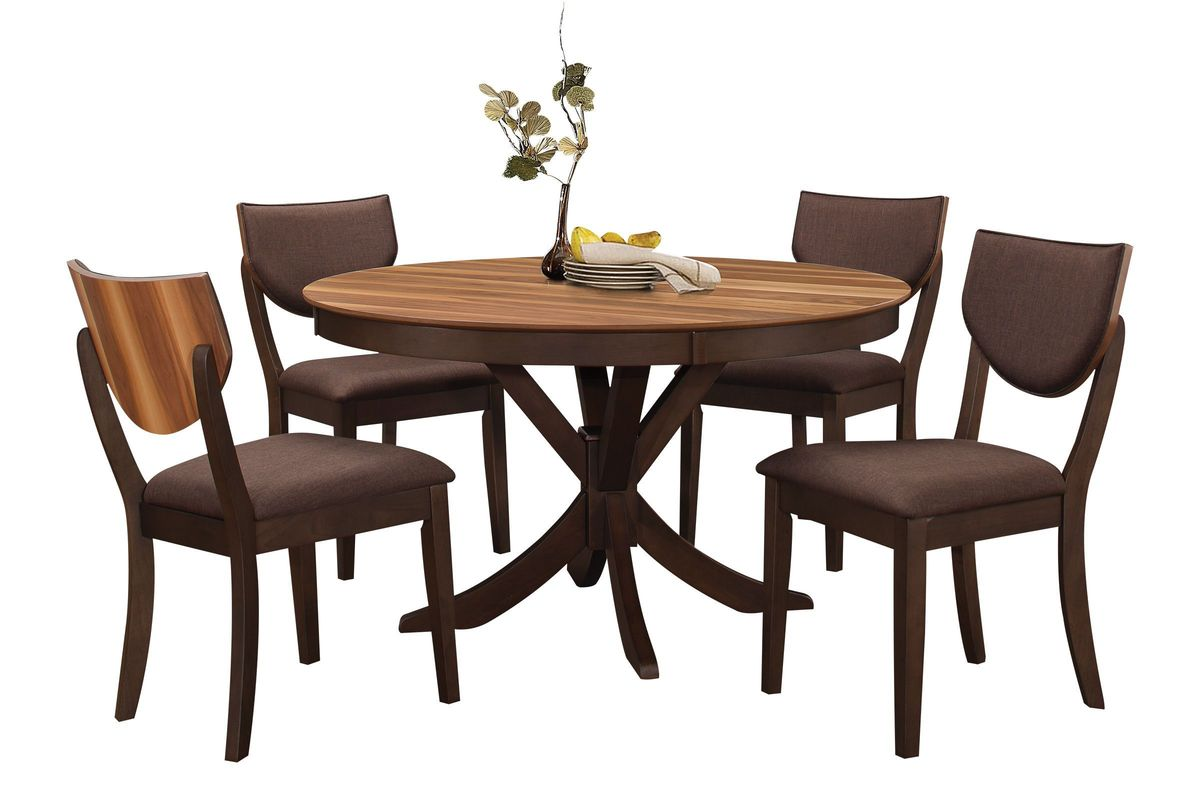 Turner Round Dining Table  4 Side Chairs