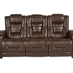 Microfiber Reclining Sofa With Drop Down Table Nailhead Furniture Highway To Home Power