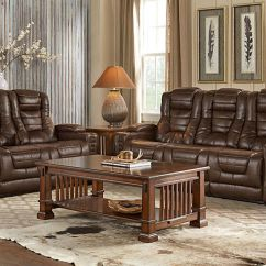 Microfiber Reclining Sofa With Drop Down Table Navy Leather Sectional Highway To Home Power