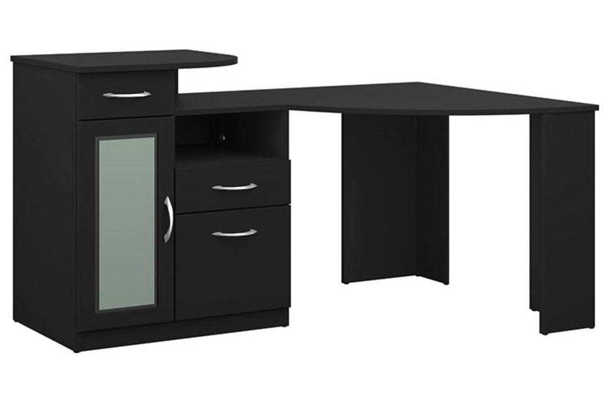 Vantage Corner Desk in Classic Black by Bush at GardnerWhite