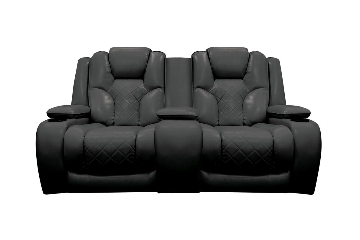 Bastille Power Reclining Loveseat with Console at Gardner