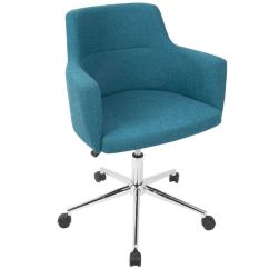 Teal Computer Chair Folding Bistro Chairs Andrew Contemporary Adjustable Office In By