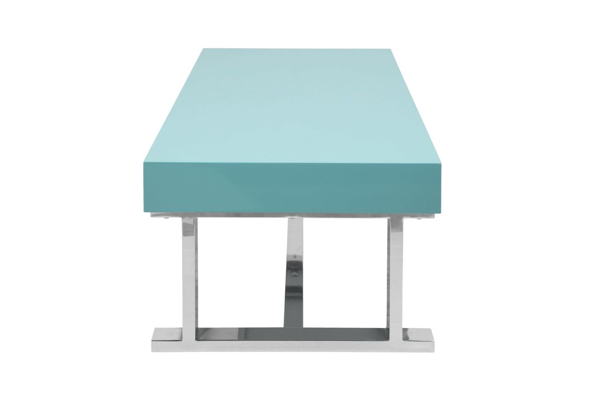 Luster Contemporary Cocktail Table In Light Blue By LumiSource