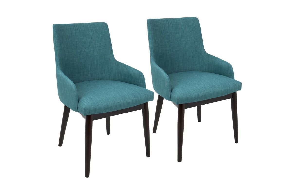 mid century accent chair booster seat for santiago modern chairs set of 2 in teal by share