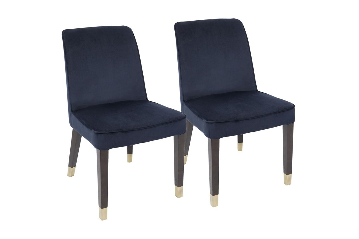 navy blue dining chairs set of 2 toddler lawn chair zora contemporary in