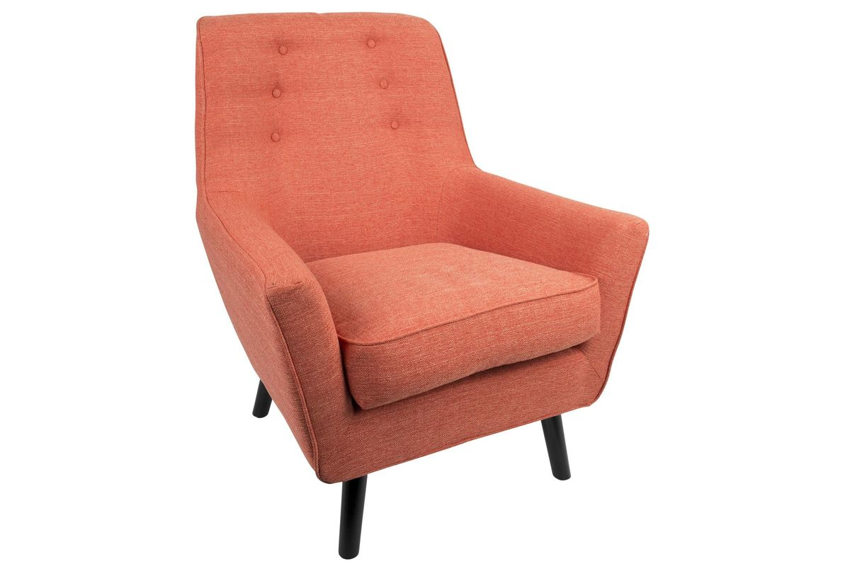 mid century modern accent chair orange tantra sex vail 37 quot in by