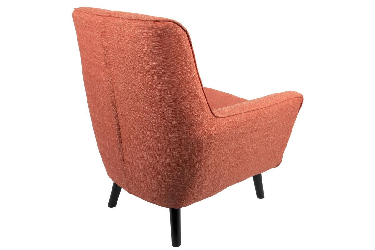 mid century modern accent chair orange anywhere cover vail 37 quot in by