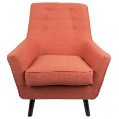 Mid Century Modern Accent Chair Orange White Leather Bedroom Vail 37 Quot In By