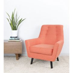Mid Century Modern Accent Chair Orange Cushions Vail 37 Quot In By